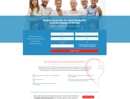 Landing Page – Family Clinic